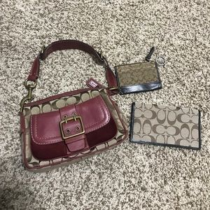 Coach bundle! Purse - checkbook cover - zip purse